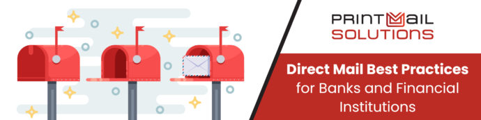 Direct mail best practices for banks and financial institutions - row of red mailboxes